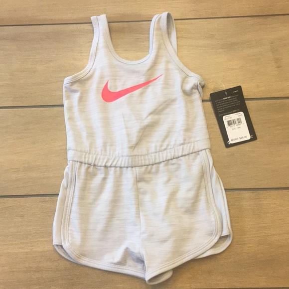 6ba2ac18f2c0 Sale ⛱ New Nike Girls Romper NWT Gray